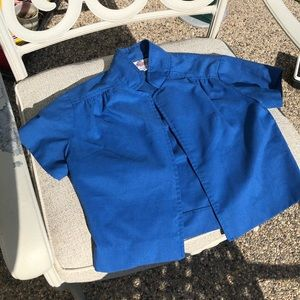 3/$20 Vintage blue cropped short sleeve cardigan